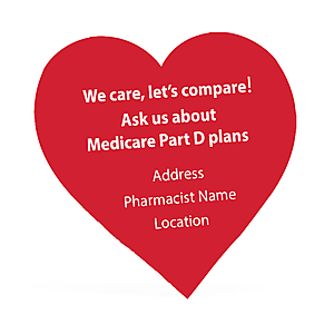 Heart Shaped Sticker with Pharmacy Personalization
